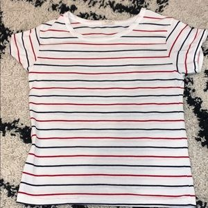 brandy melville blue and red and white stripped t